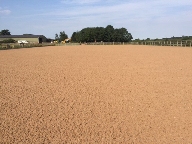 Outdoor Equestrian riding arena
